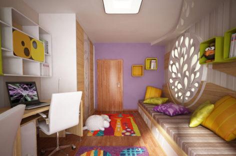 Phòng ngủ sống động, đầy màu sắc cho trẻ em