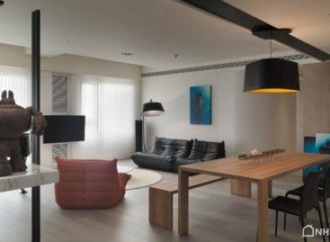 Thiết kế giản đơn nhưng không kém phần tinh tế của căn hộ ở Đài Loan
