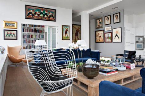 Phong cách thiết kế chiết trung trong căn hộ ở Moscow