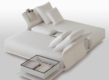 Sofa tinh khôi sắc trắng