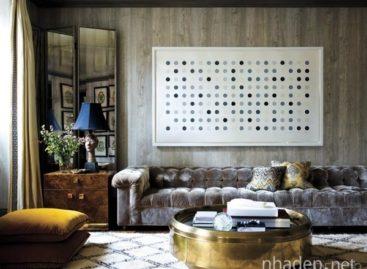 Trang trí nội thất với họa tiết chấm bi