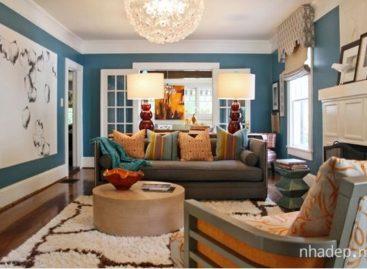 15 ý tưởng phối hợp màu sắc cho phòng khách của gia đình
