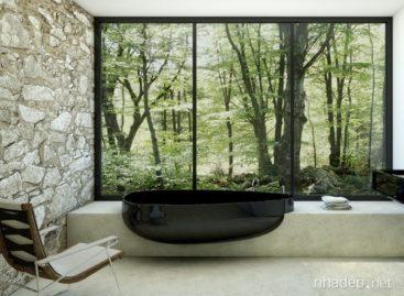 Thiết kế bồn tắm tối giản cho phòng tắm hiện đại