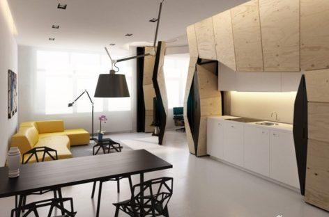 Ý tưởng thiết kế nội thất sáng tạo cho căn hộ 60m2