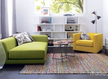Nội thất đầy màu sắc làm rực sáng căn phòng bạn