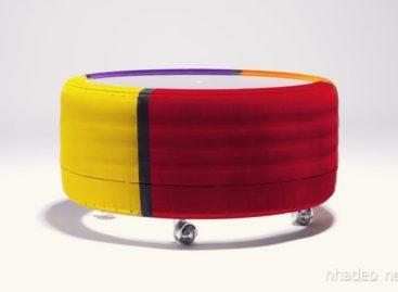 Thiết kế độc đáo của chiếc bàn bánh xe