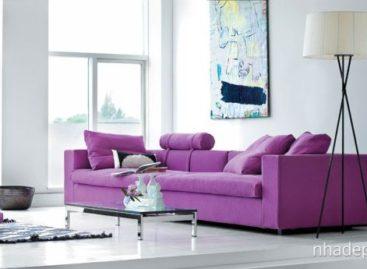 Tím sang trọng, quý phái trong thiết kế nội thất đương đại