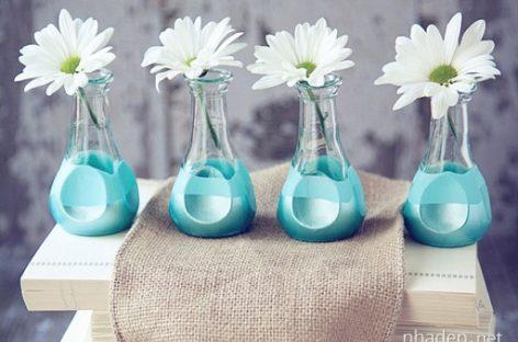Tự làm lọ hoa xinh xắn để trang trí nhà cửa