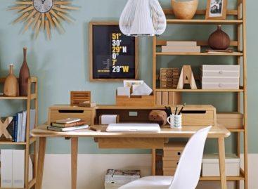 Thiết kế văn phòng tại nhà lấy cảm hứng từ những năm 50