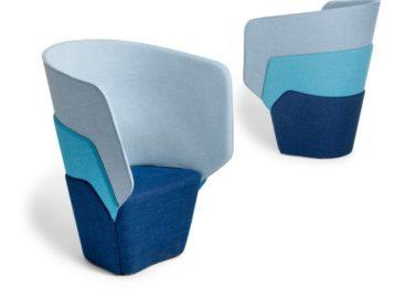 Độc đáo với chiếc ghế nhiều lớp màu đơn giản
