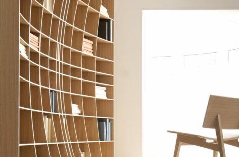 Tủ sách cong độc đáo của Simon Pengelly