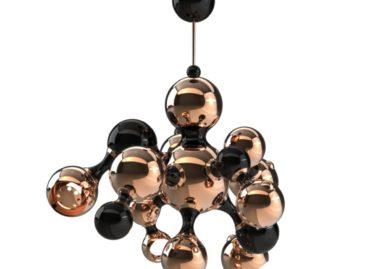 Chùm đèn treo hình dáng nguyên tử sang trọng