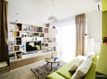 Thiết kế hài hòa và sáng tạo trong căn hộ 40m2 của Cristina Bordoiu