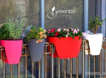Chậu cây sinh thái tích hợp với lan can GreenBo – thiết kế đương đại cho đời sống đô thị