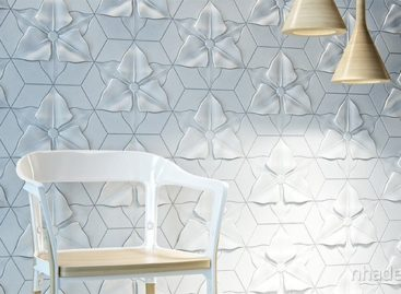 Gạch ốp tường với họa tiết bắt mắt