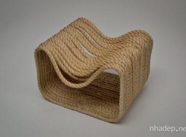 Chiếc ghế dây thừng Ropey độc đáo của Jon Fraser