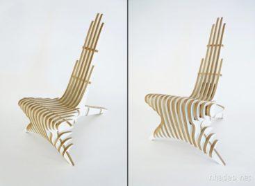 Chiếc ghế được thiết kế theo hình chóp bởi Peter Qvist Lorentsen
