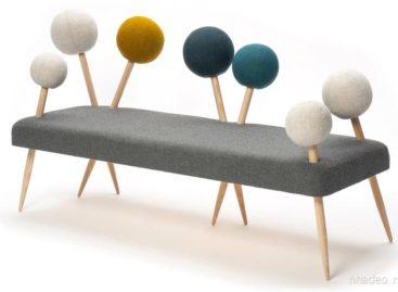 Ghế sofa ngộ nghĩnh với chân hình cây kim