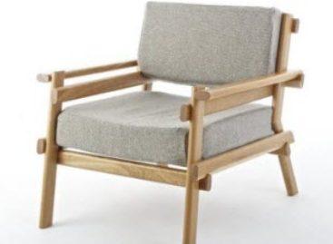 Ghế tựa Avsnitt sáng tạo từ những thanh gỗ
