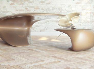 """Thiết kế bàn làm việc """"một chân"""" độc đáo của Nuvist"""