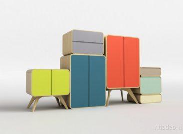 Độc đáo với bộ sản phẩm tủ gỗ màu sắc Matrioshka