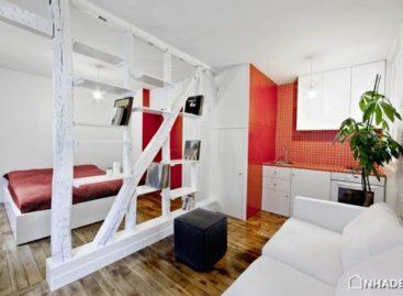 Ấn tượng với tông màu trắng & đỏ của căn hộ 25m2 tại Paris