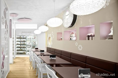 Mẫu thiết kế nội thất dành cho cửa hàng bánh nướng