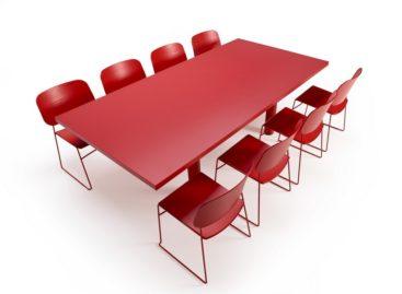 Bàn họp tích hợp cho không gian văn phòng hiện đại
