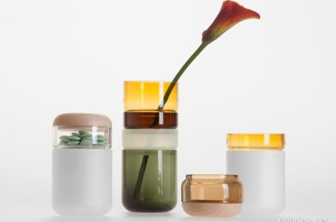Bộ sản phẩm lọ hoa Pi-no Pi-no từ những vòng tròn thủy tinh