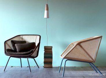 Ghế bành Colony thiết kế từ gỗ và mây đan
