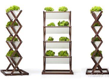 Kệ trồng rau zíc zắc cho không gian nhỏ hẹp