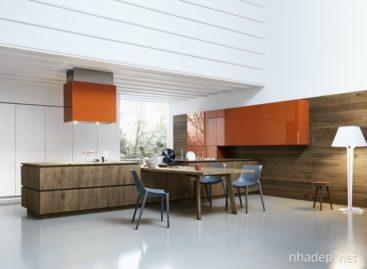Thiết kế nhà bếp với gỗ sồi