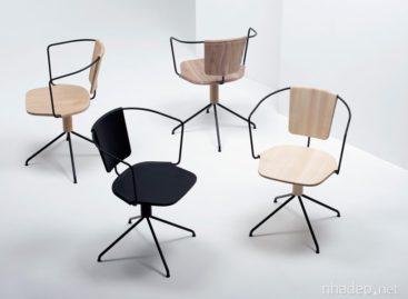 Bộ sưu tập ghế gỗ Uncino tinh tế của công ty Mattiazzi