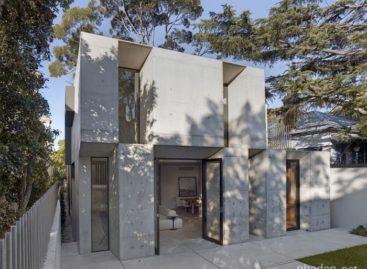 Không gian hiện đại và độc đáo của ngôi nhà hai tầng làm từ gỗ và bê tông
