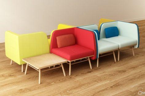 Thiết kế ghế Bi Silla đầy màu sắc của Silvia Cenal