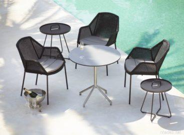 Bộ sản phẩm bàn ghế ngoài trời thanh lịch và sang trọng Breeze