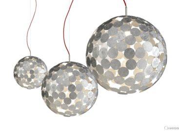 Đèn Planet-O sáng tạo từ đĩa kim loại của Divisual