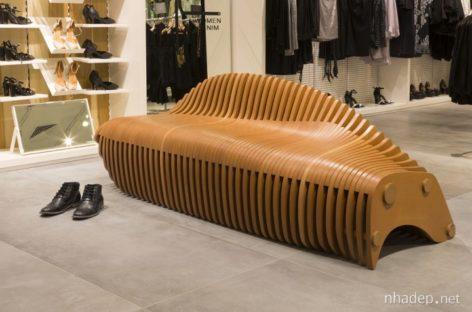 Ghế bành thiết kế tinh xảo lấy cảm hứng từ kết cấu xương cá