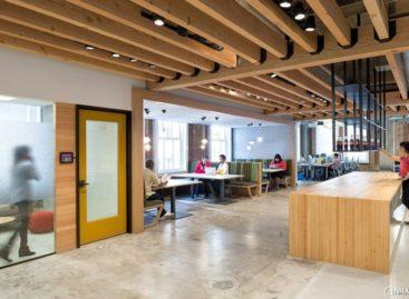 Mới và cũ đan xen trong thiết kế nội thất tại trụ sở Yelp