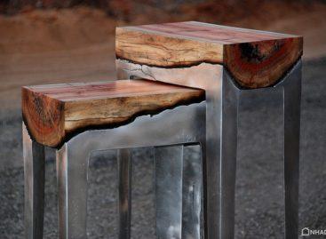 Vẻ đẹp độc đáo của bộ sưu tập bàn ghế kết hợp gỗ và kim loại của Hilla Shamia