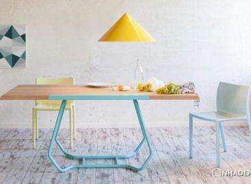 Chiếc bàn ăn Duale được thiết kế bởi công ty Luca Binaglia