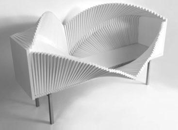 Thiết kế hình lượn sóng của chiếc tủ Wave