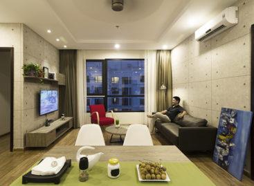 Không gian gọn gàng và tiện ích trong căn hộ 80 m2