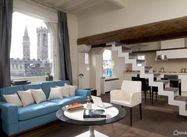 Không gian cổ kính pha nét hiện đại của căn hộ Tower Suite