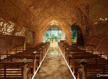 Nhà thờ cưới nổi bật với các hoa văn lấy cảm hứng từ thiên nhiên