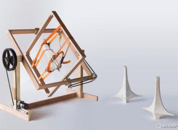 Chiếc bình bê tông hình chữ thập lấy cảm hứng từ Oscar Niemeyer