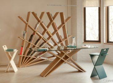 Sự tiện lợi của kệ sách lắp ráp được thiết kế bởi Maryam Pousti