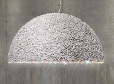 Sang trọng với chiếc đèn Dutchess làm từ đá cẩm thạch và pha lê Swarovski