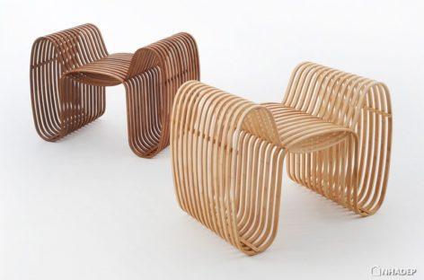 Chiếc ghế tre Bow Tie được thiết kế bởi Gridesign