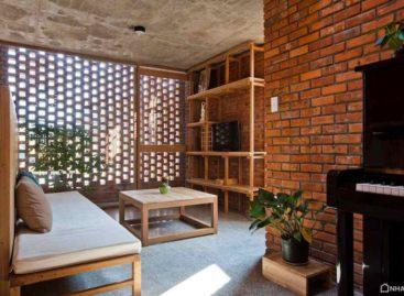Thiết kế độc đáo của ngôi nhà sử dụng gạch nung truyền thống tại Việt Nam